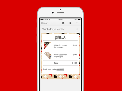 Daily UI #017 - Email Receipt maker face order toys invoice price total receipt inbox app email daily ui