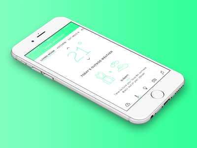Daily UI #021 - Home Monitoring Dashboard ios app weather music camera lights dashboard home temperature dress ui daily ui