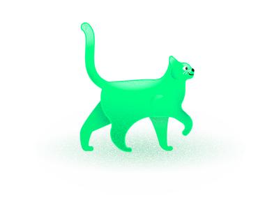 WIP - Cats shadow highlight green illustration skillshare grain texture cats cat