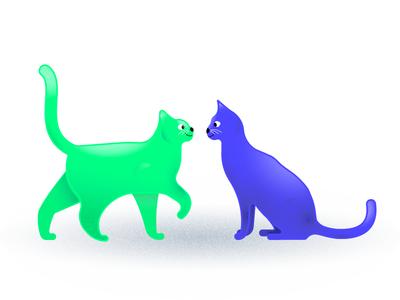 Lafon & Basile Paw update shadow highlight animals color tutorial skillshare illustration texture grain friends cats cat