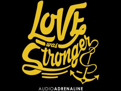 Audio Adrenaline Graphic lettering anchor logo merch