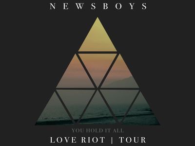 Newsboys Merchandise Design music tour triangles band merch band tees newsboys