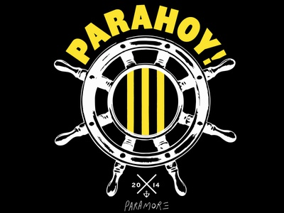 Paramore Parahoy nautical band merch band tees parahoy paramore