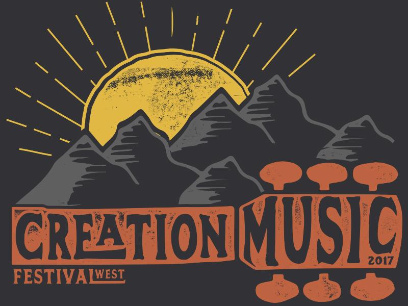 Creation Festival 2017 guitar mountains t-shirt design creation music festival merch festival