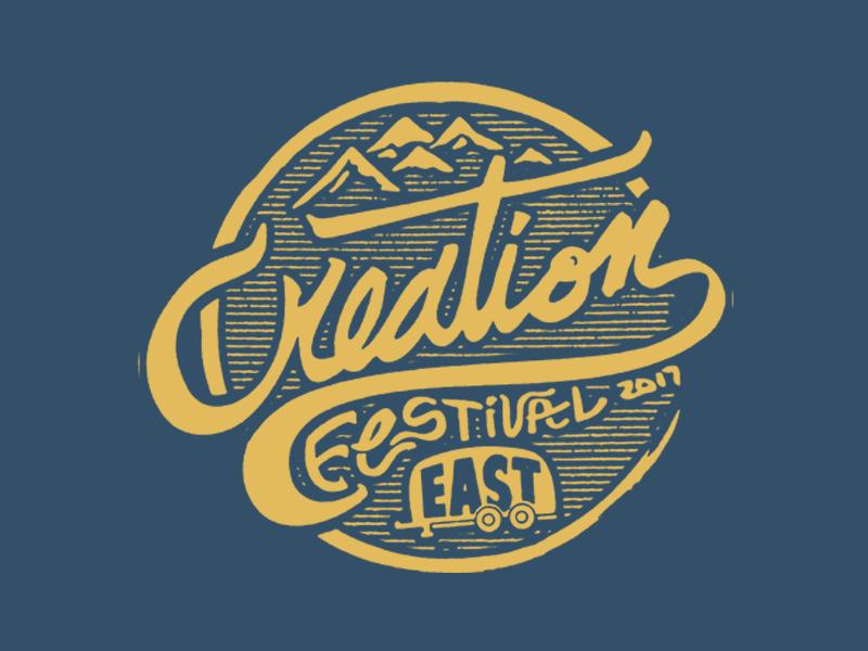 Dribble Creationfest3 circle logo creation festival merch music festival badge custom type custom logo