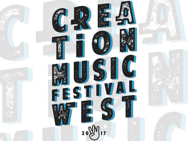Creation West Festival custom type typography tee merch design festival t-shirt festival art creation music festival