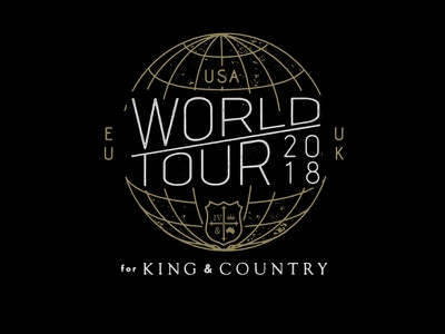 For King & Country Tour Design for king  country band merch t-shirt design tees merchandise artist merch