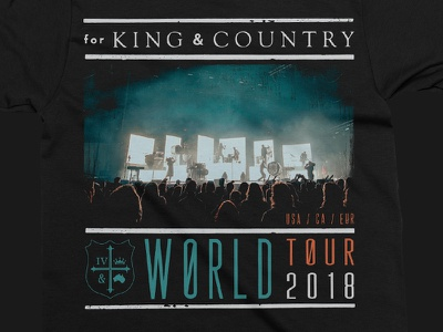 For King & Country Tour Design world tour for king  country band merch t-shirt design tees merchandise artist merch