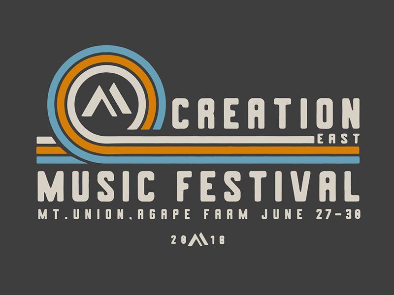 Creation Music Festival Tee custom type typography tee merch design festival t-shirt festival art creation music festival