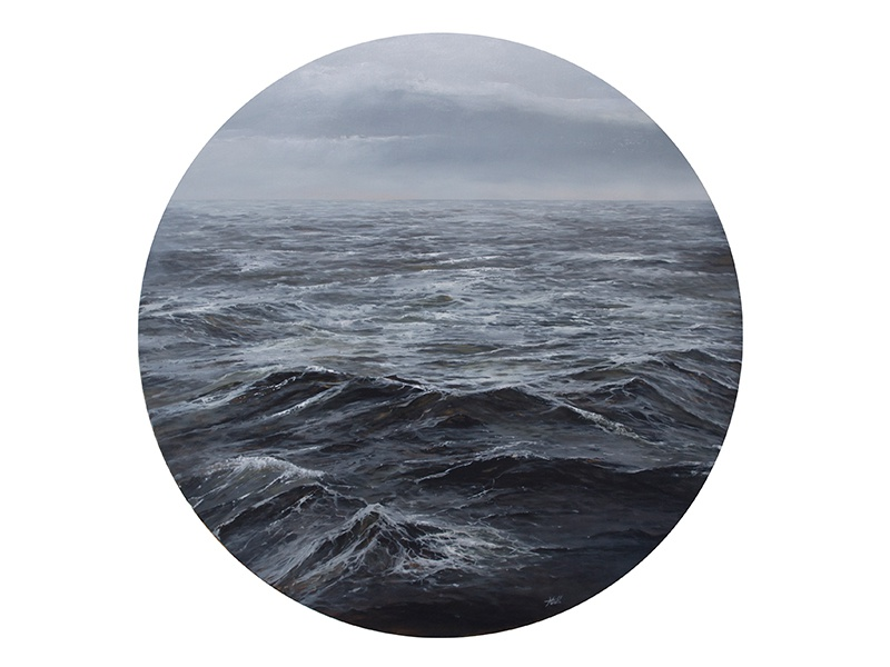 Ocean Porthole #2 circle art painting art porthole circle fineart oil painting