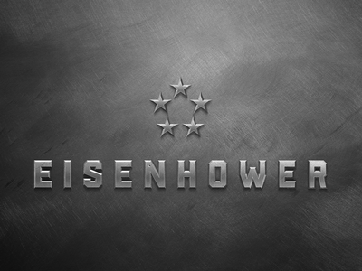 Eisenhower typography branding logo