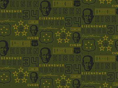 Eisenhower Pattern pattern typography design illustration