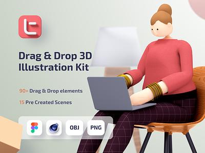 Trinity 3D Illustration Design System 3d scene creator download 3d design kit 3d characters 3d art 3d modeling 3d illustration cinema4d 3d illustration