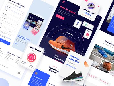 Kicks E-Commerce UI Kit ecommerce website ecommerce ui kit ui kit shoes ecommerce design ecommerce