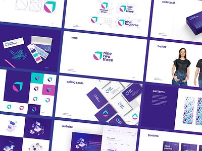 ninetwothree Case Study development agency branding dev shop branding design logo pink purple agency branding agency brand book branding