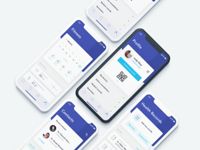 Identity Management - Healthcare fitness iphone x indigo mobile app healthcare identity management