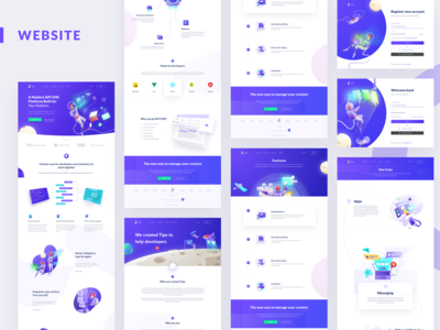 Tipe Brand Refesh branding design branding purple gradient purple web design website