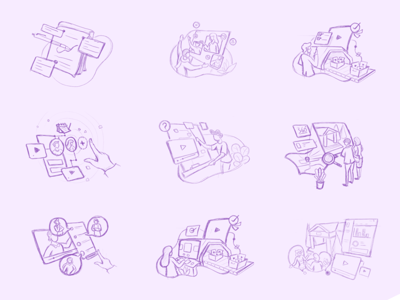 Illustration Sketches purple illustration sketches illustration design illustrations illustration art sketches illustration