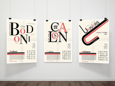 Type Classification Posters design graphic  design posters universe caslon bodoni graphicdesign typeface typography type