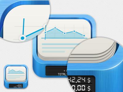 iPad App Icon ipad app iphone design icon logo ui gui blue paper clean digital