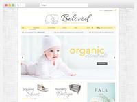 Beloved Baby Organics Website