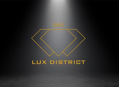 Lux District branding identity