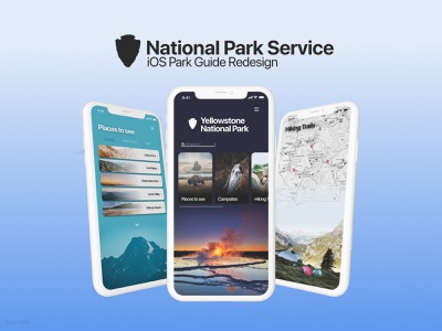 National Park Service UI design type graphic design logo website minimal app ux branding ui design