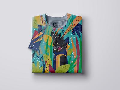 Black Parrot Sweatshirt fabric design repeat pattern bird illustration bold color graphic design design vector jungle aqua fashion illustration parrot hand drawn illustration textile design textile