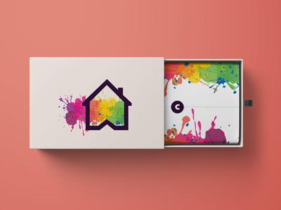 Colour Burst Logo Creation