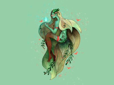 Wood Elf Warrior artist art character design fantasy art perth illustration procreate elf warrior elf