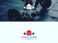 LIVE AT - HOME WORKOUT LOGO DESIGN
