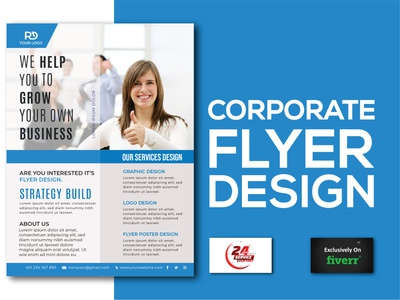 Corporate flyer flat logo design illustration branding minimal minimalist logo professional brand identity graphic design corporate flyer design corporate flyer