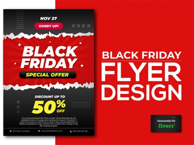 Black Friday Flyer typography business design illustration branding minimalist logo professional logo design brand identity graphic design