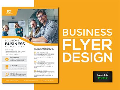 Business Flyer typography minimal branding minimalist logo design brand identity illustration professional graphic design flyer design business flyer design