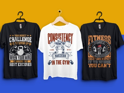 I will do fitness gym CrossFit t shirt design logo design professional brand identity graphic design tshirtdesign tshirts tshirt design tshirt