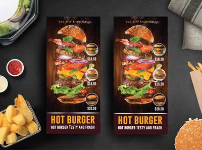 Food rack card Design