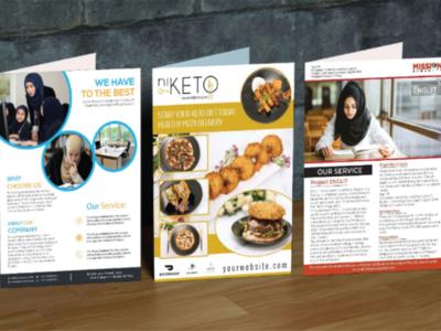 B Fold Brochure and Flyer Design