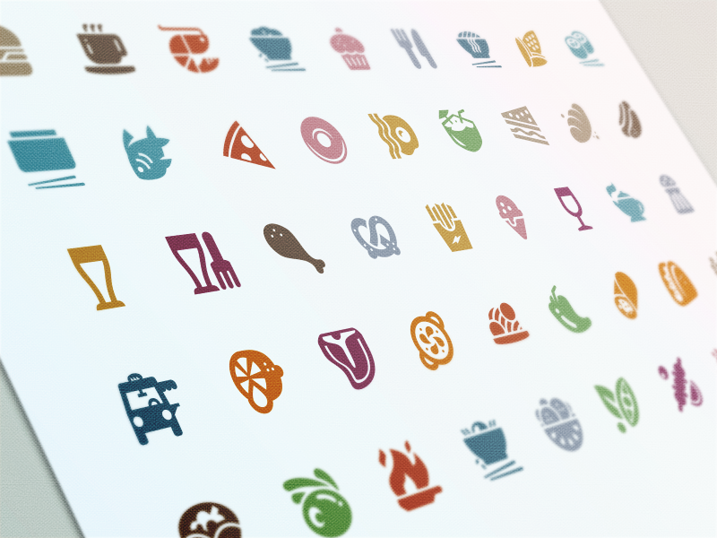 Evernote Food Cuisine Icons evernote food font icon set