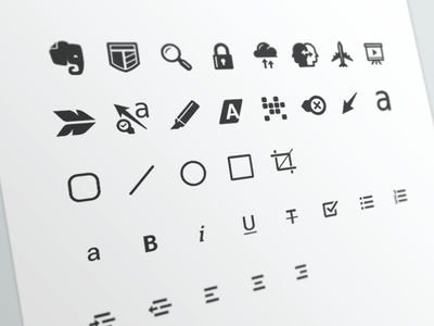 More Icons evernote font icon set android skitch premium