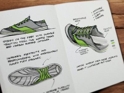 Evernote Moleskine Sportswear Illustration