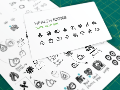 Health Icons icon set puck