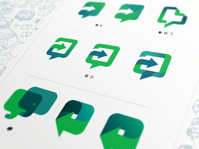 Work Chat - logo exploration evernote logo icon work chat chat work message