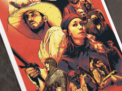 JourneyQuest Poster zombie orpheus entertainment series web fantasy poster illustration quest journey journeyquest