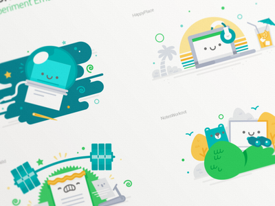 Campaign Illustrations note campaign illustration evernote