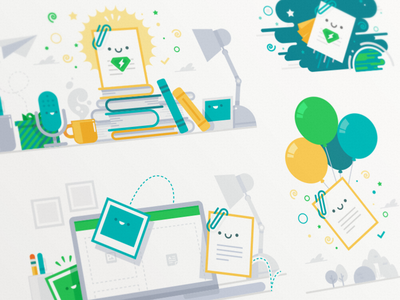 Campaign Illustrations 2 note campaign illustration evernote