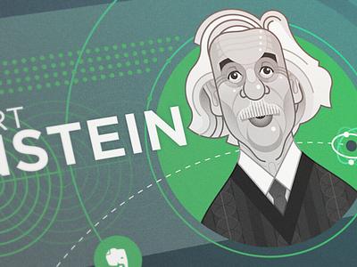 Albert Einstein einstein albert campaign illustration evernote