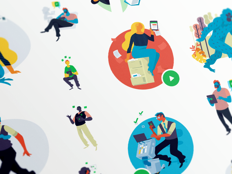 Web Illustrations color web design illustration evernote