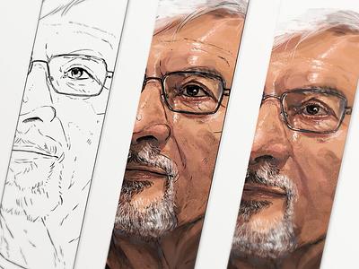 Portrait illustrartion digital illustration portrait evernote