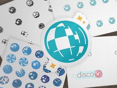 Disco Brandmark sketch exploration logo disco all turtles