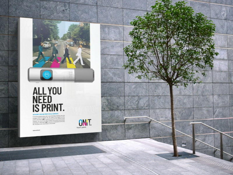 Onit's advertising. advertising add print logo branding webgraphic mockup logotype design